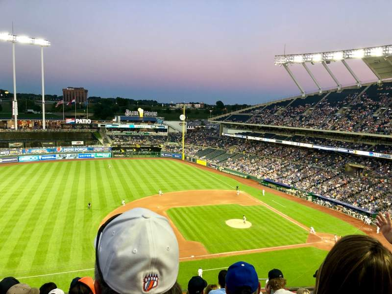 Seating view for Kauffman Stadium Section 409 Row L Seat 11