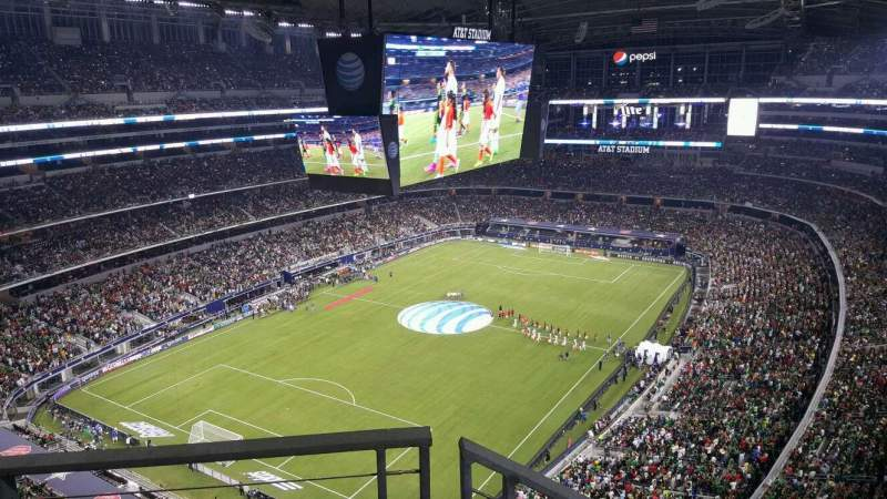 Seating view for AT&T Stadium Section 451 Row 9 Seat 20