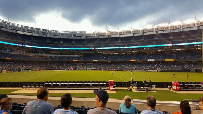 Seating view for Yankee Stadium Section 103 Row 16 Seat 4