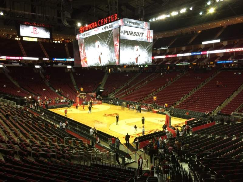 Seating view for Toyota Center Section 103 Row 23 Seat 1
