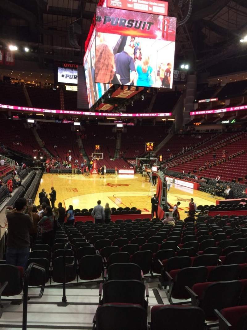 Seating view for Toyota Center Section 101 Row 10 Seat 12