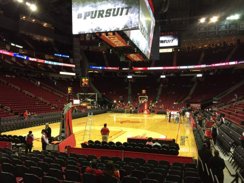 Seating view for Toyota Center Section 125 Row 4 Seat 6