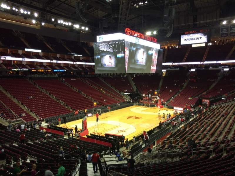 Seating View For Toyota Center Section 125 Row 26 Seat 1