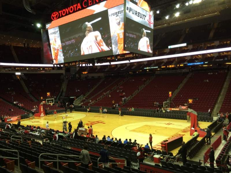 Seating view for Toyota Center Section 117 Row 15 Seat 1