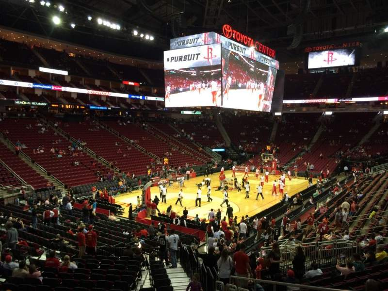 Seating view for Toyota Center Section 112 Row 22 Seat 3