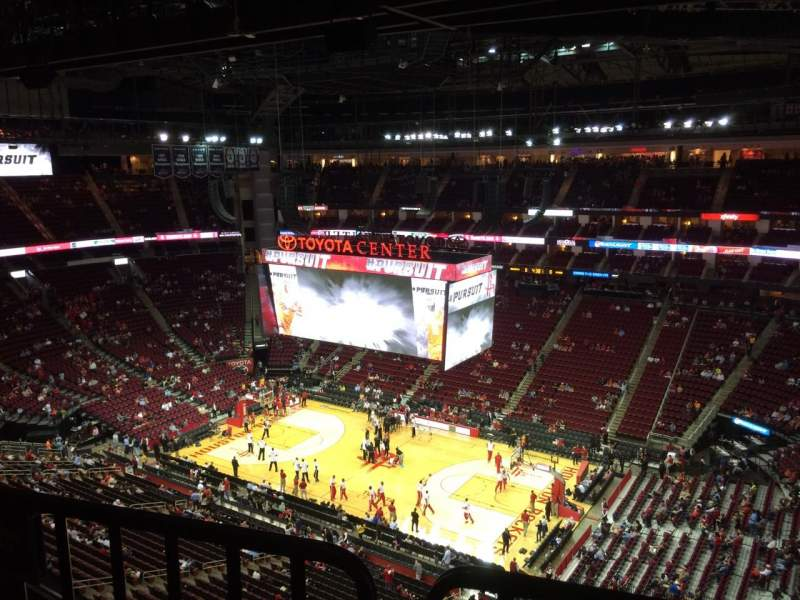 Seating view for Toyota Center Section 406 Row 8 Seat 12