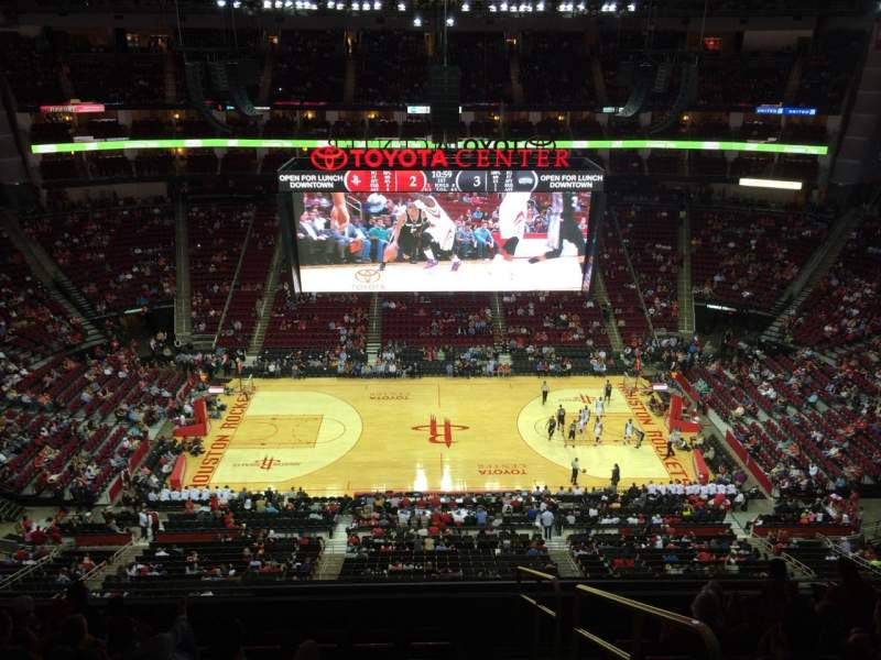 Seating view for Toyota Center Section 427 Row 9 Seat 1