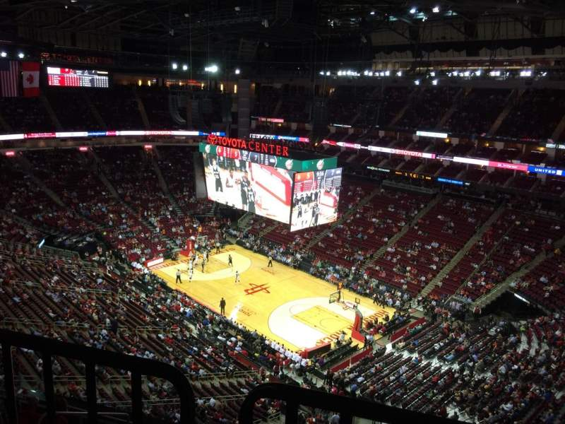 Seating view for Toyota Center Section 422 Row 9 Seat 2