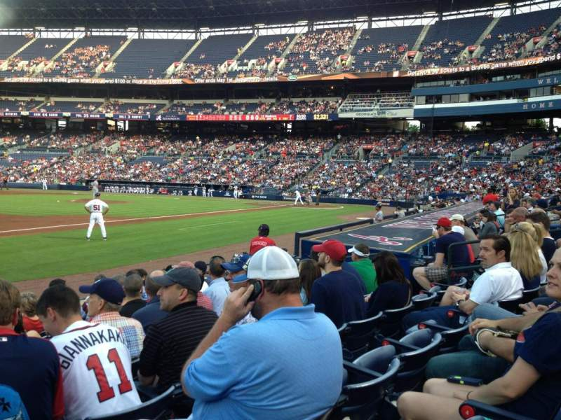 Seating view for Turner Field Section 120R Row 9 Seat 1