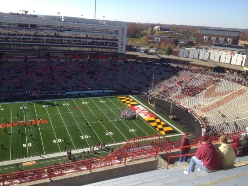 Seating view for Maryland Stadium Section 306 Row R Seat 12