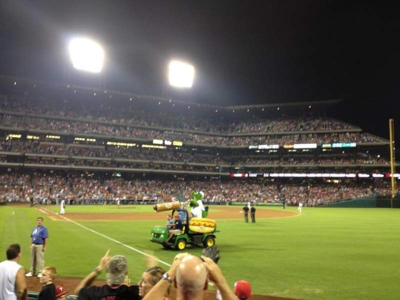 Seating view for Citizens Bank Park Section 109 Row 8 Seat 12