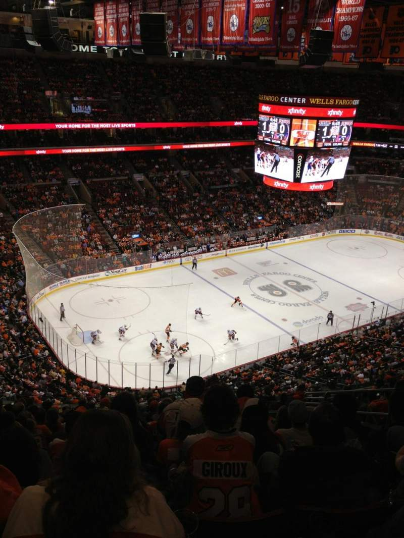 Seating view for Wells Fargo Center Section 210 Row 15 Seat 16