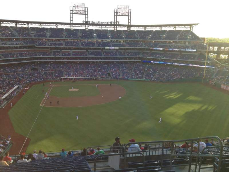 Seating view for Citizens Bank Park Section 304 Row 18 Seat 4