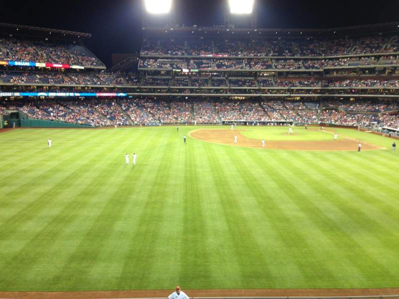 Seating view for Citizens Bank Park Section 244 Row 1 Seat 8