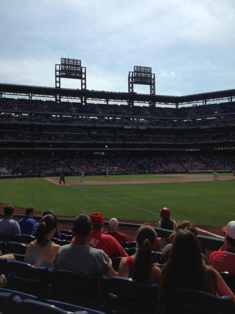 Seating view for Citizens Bank Park Section 109 Row 8 Seat 10