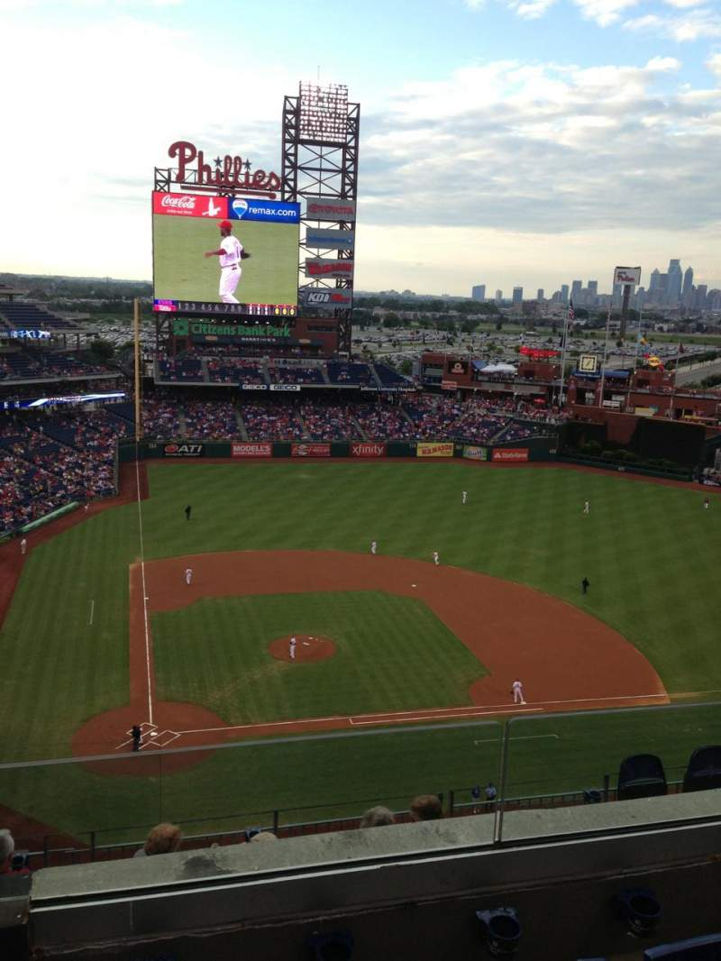 Seating view for Citizens Bank Park Section 417 Row 3 Seat 12