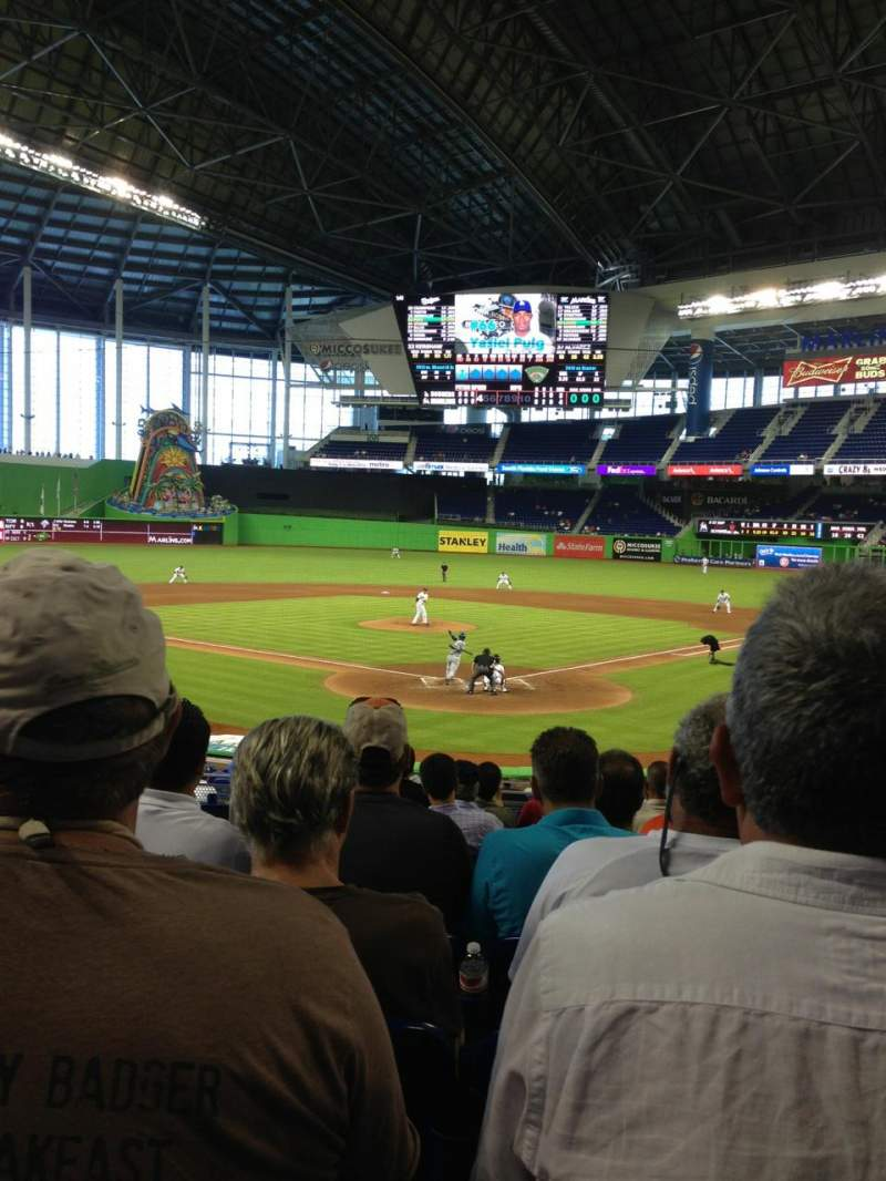 Seating view for Marlins Park Section 15 Row 6 Seat 10