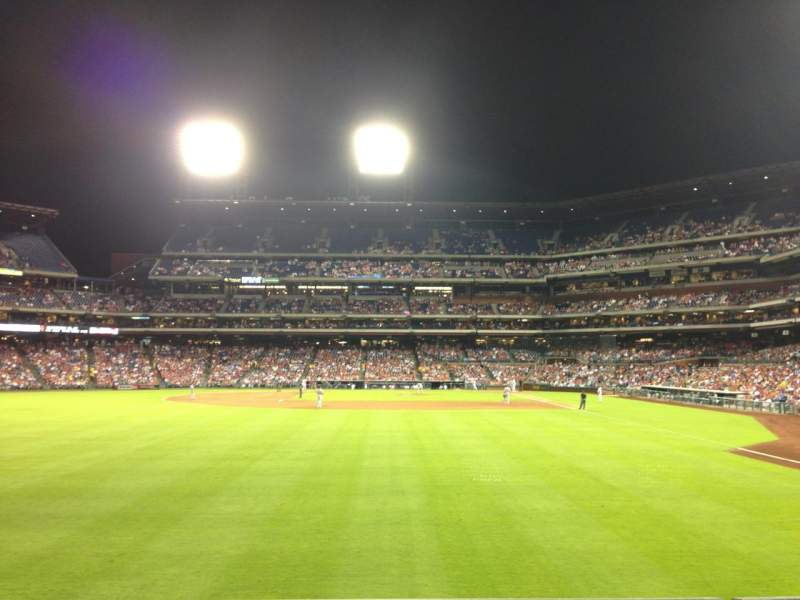 Seating view for Citizens Bank Park Section 142 Row 2 Seat 16