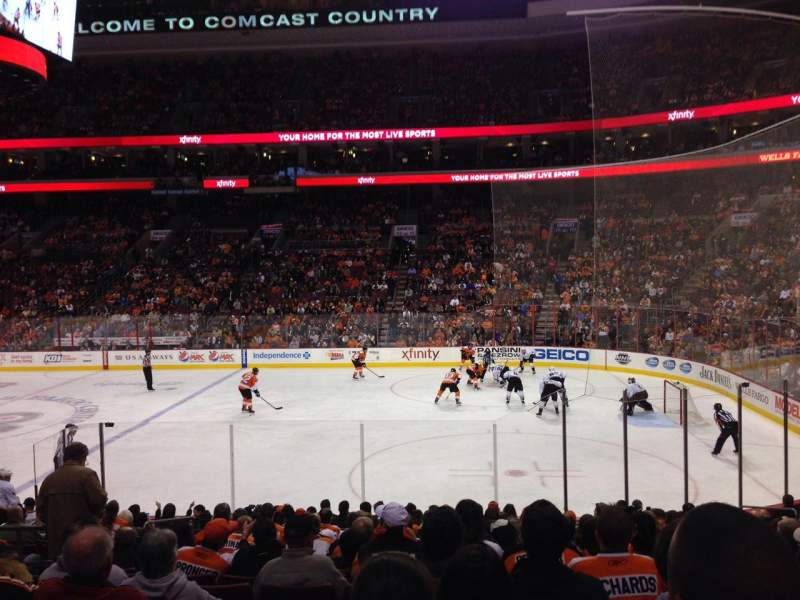 Seating view for Wells Fargo Center Section 103 Row 17 Seat 7