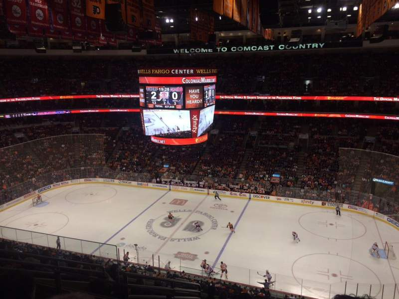 Seating view for Wells Fargo Center Section 215 Row 10 Seat 5
