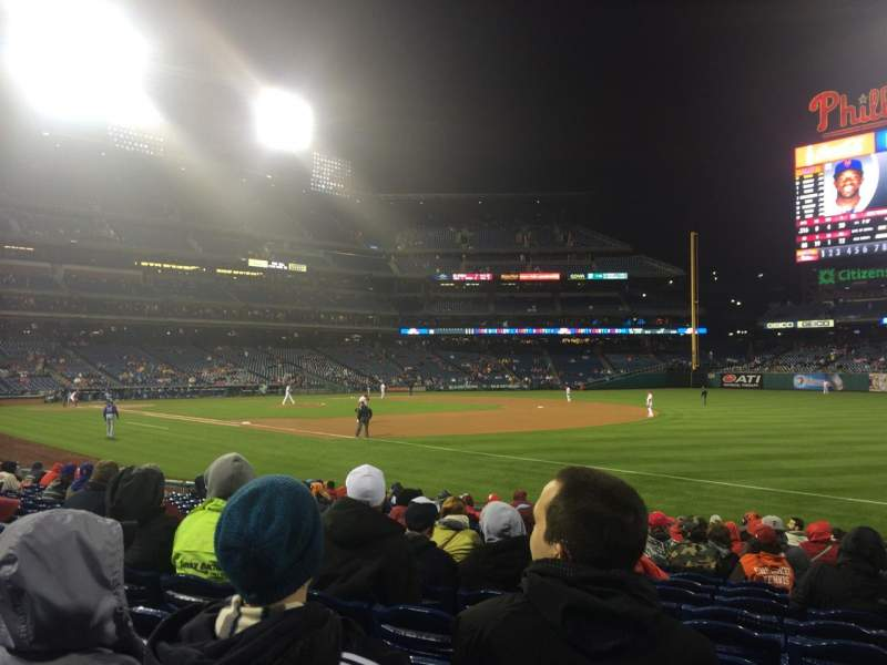 Seating view for Citizens Bank Park Section 111 Row 17 Seat 9