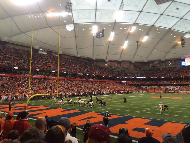 Seating view for Carrier Dome Section 122 Row G Seat 16