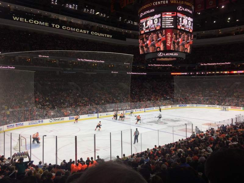 Seating view for Wells Fargo Center Section 122 Row 21 Seat 5