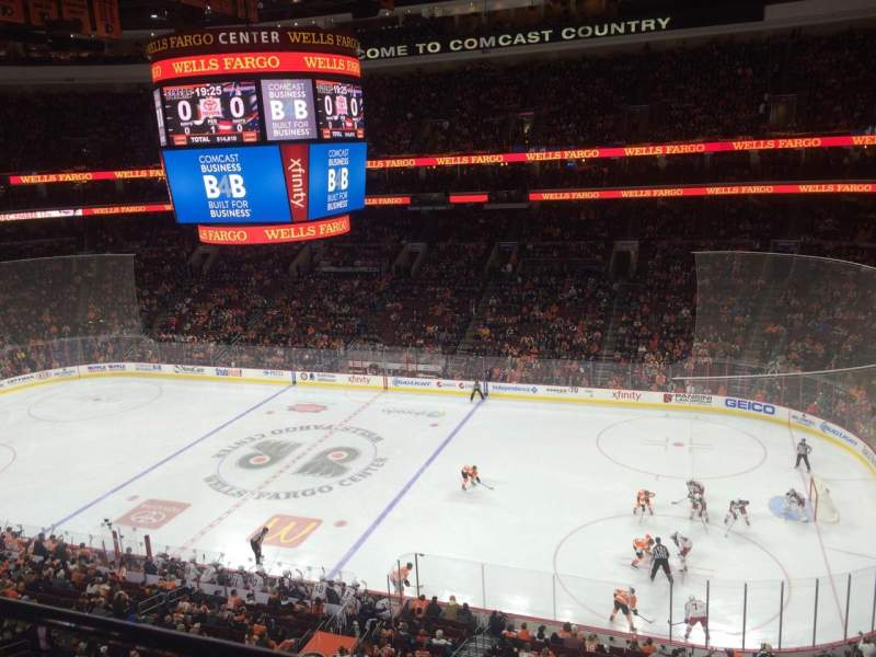 Seating view for Wells Fargo Center Section 203 Row 1 Seat 13