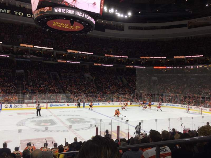 Seating view for Wells Fargo Center Section 124 Row 14 Seat 19