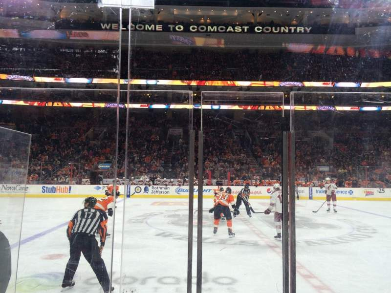 Seating view for Wells Fargo Center Section 113 Row 4  Seat 3