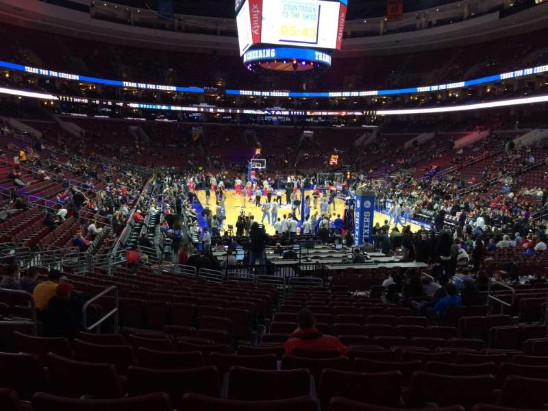 Seating view for Wells Fargo Center Section 118 Row 17 Seat 6
