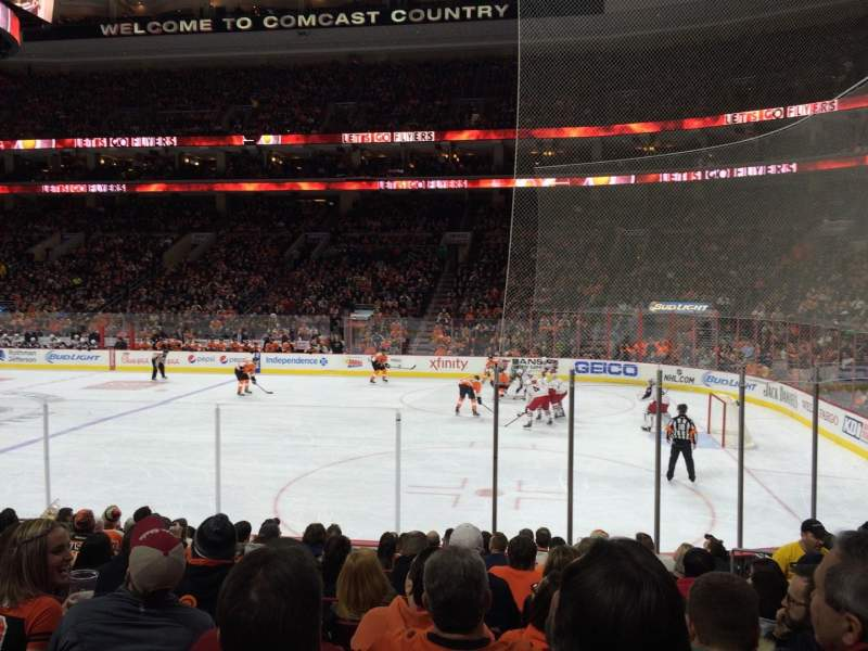 Seating view for Wells Fargo Center Section 115 Row 12 Seat 13