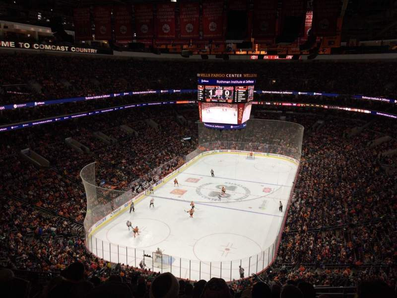 Seating view for Wells Fargo Center Section 208 Row 12 Seat 12