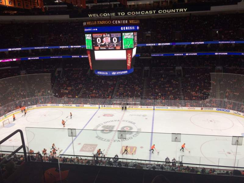 Seating view for Wells Fargo Center Section 202 Row 7 Seat 6