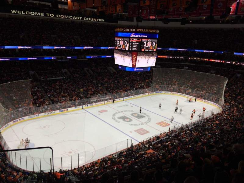 Seating view for Wells Fargo Center Section 222A Row 8 Seat 1