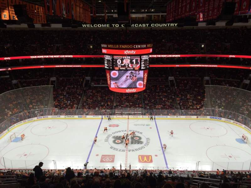Seating view for Wells Fargo Center Section 201 Row 13 Seat 11