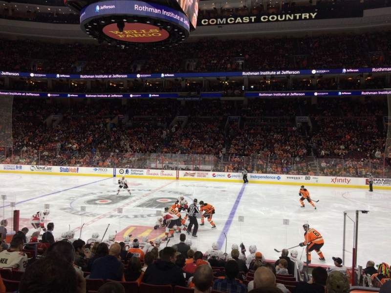 Seating view for Wells Fargo Center Section 102 Row 14 Seat 10