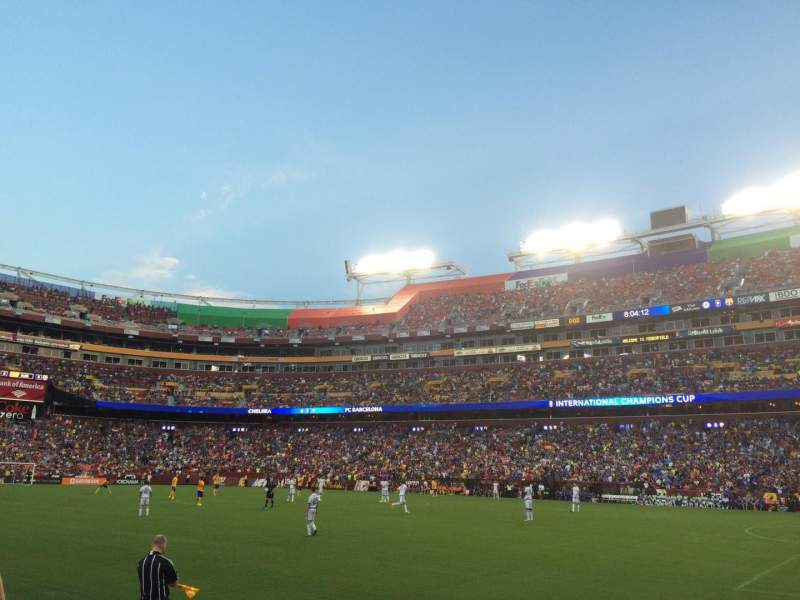 Seating view for FedEx Field Section 118 Row 1 Seat 14