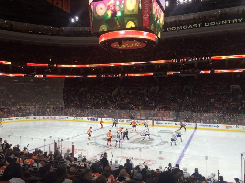 Seating view for Wells Fargo Center Section 102 Row 17 Seat 12