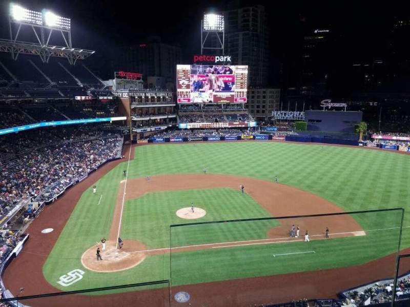Seating view for PETCO Park Section UB307 Row 2
