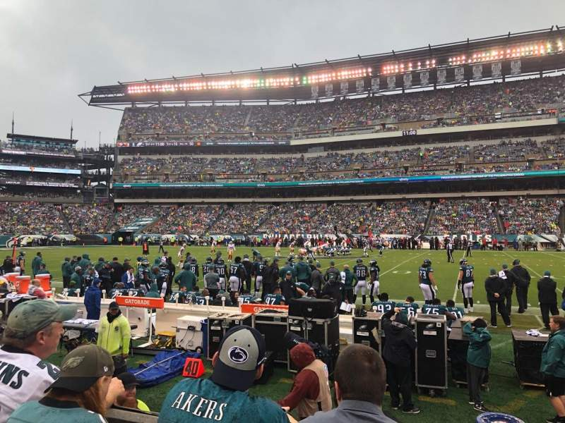 Seating view for Lincoln Financial Field Section 102 Row 3 Seat 10