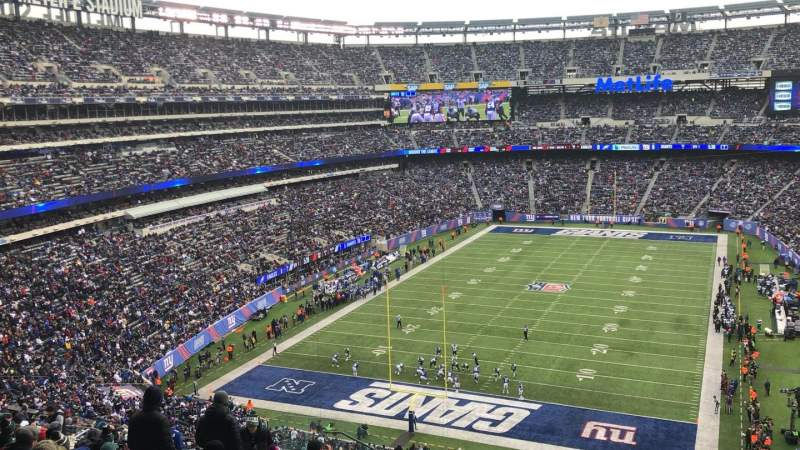 Seating view for MetLife Stadium Section 249B Row 16 Seat 20