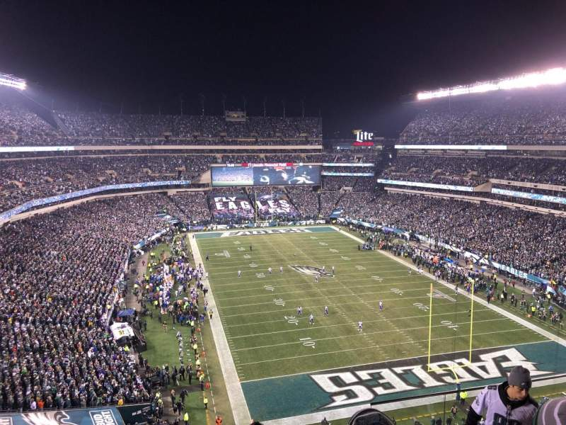 Seating view for Lincoln Financial Field Section 233 Row 10 Seat 5