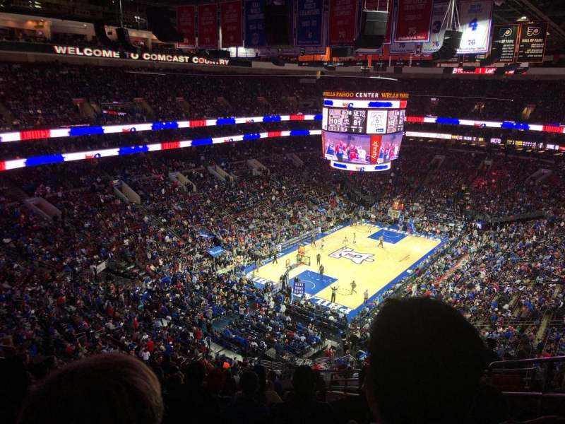 Seating view for Wells Fargo Center Section 209 Row 12 Seat 15