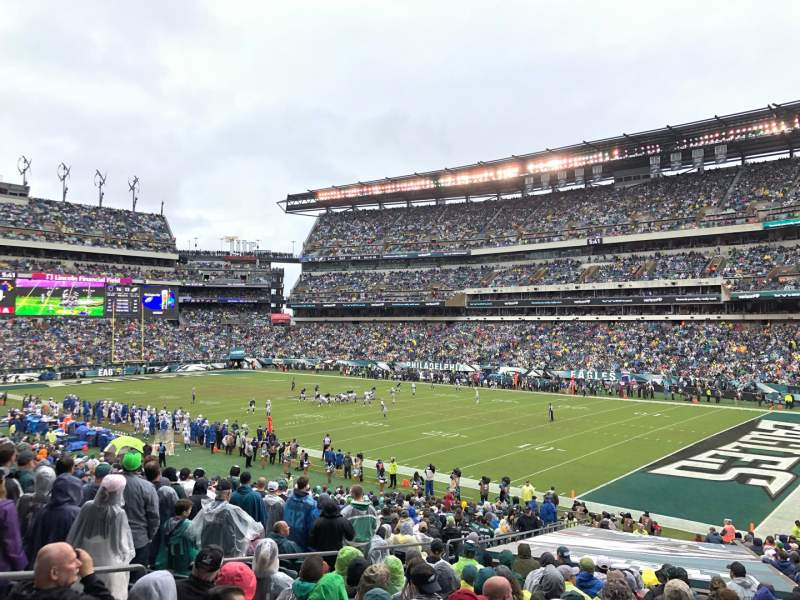 Seating view for Lincoln Financial Field Section 125 Row 33 Seat 22