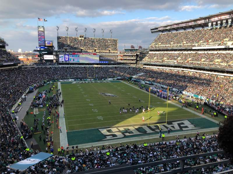 Seating view for Lincoln Financial Field Section M10 Row 14 Seat 31