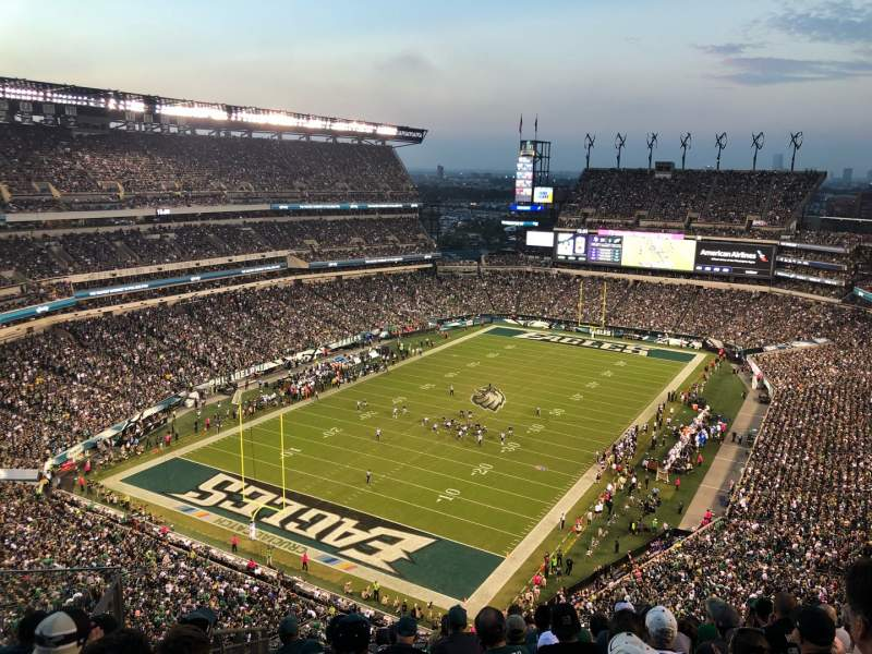 Seating view for Lincoln Financial Field Section 217 Row 14 Seat 1