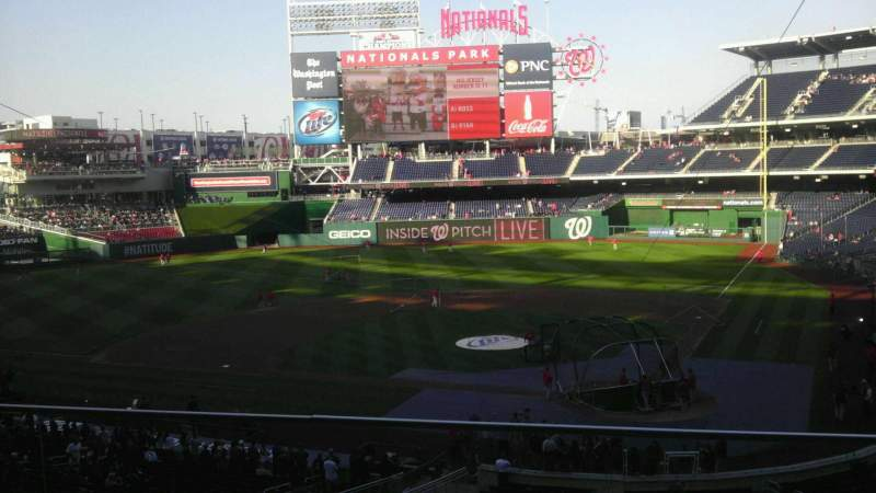 Seating view for Nationals Park Section 211 Row B Seat 13