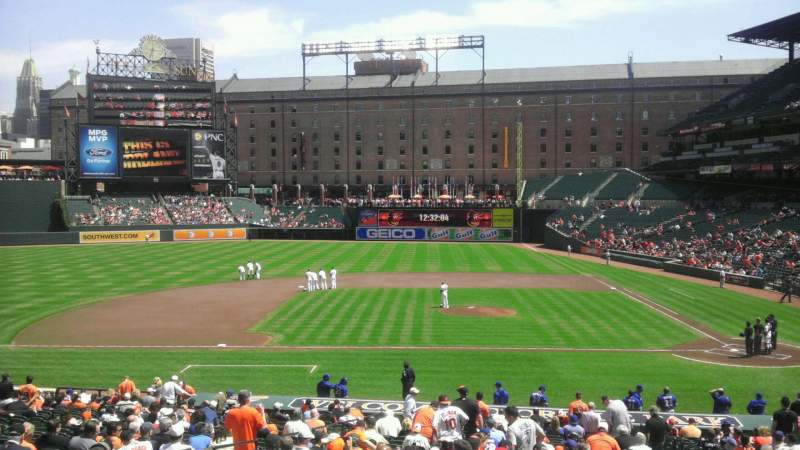 Seating view for Oriole Park at Camden Yards Section 49 Row 1 Seat 8