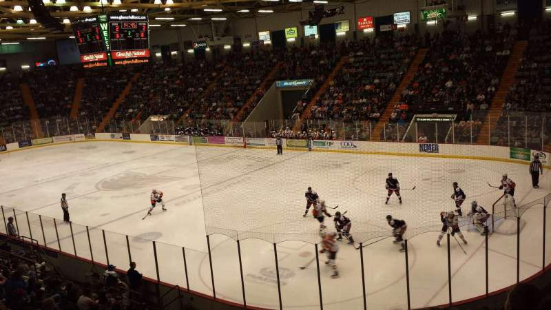 Seating view for Glens Falls Civic Center Section E Row 15 Seat 25